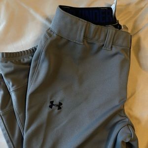 Grey Under Armour Softball Pants